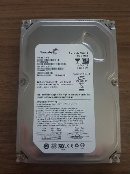 Disco duro sata 250gb