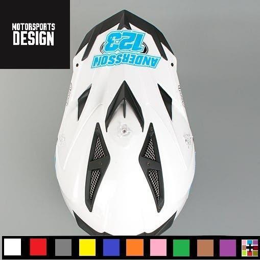 Kit pegatinas custom casco cross
