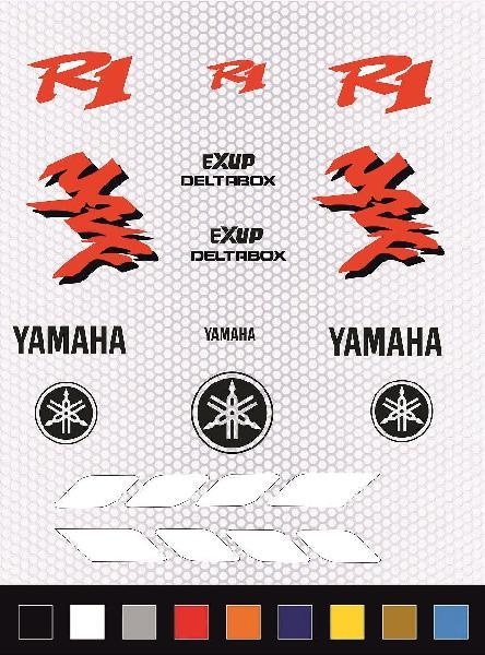 Kit pegatinas yamaha r1 1998
