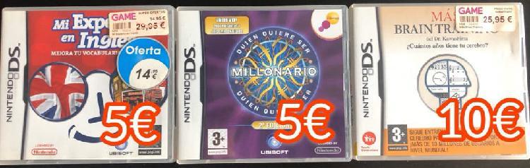 Nintendo ds 3 juegos