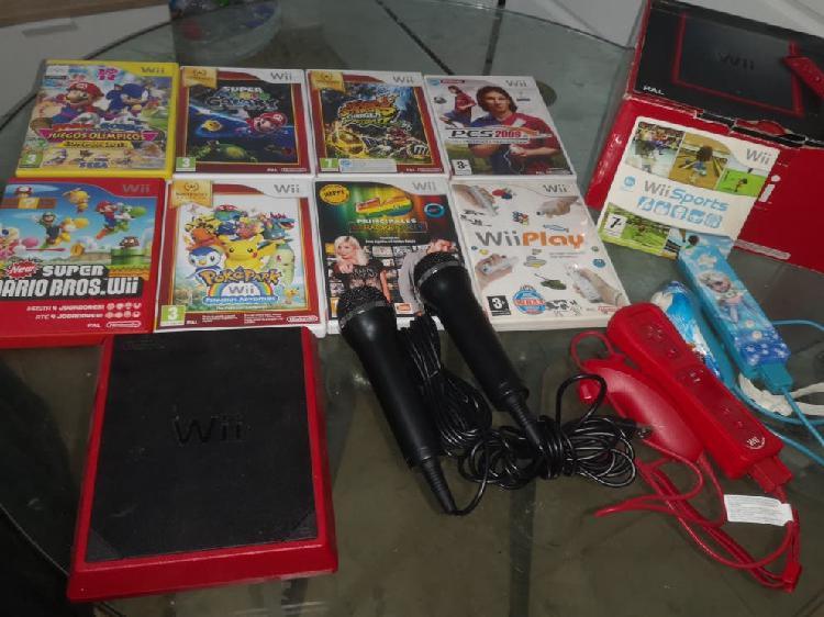 Pack Wii + juegos + 2 mandos