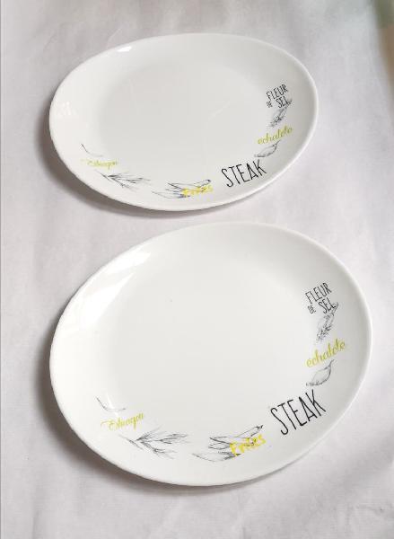Platos ovalados italianos de cerámica