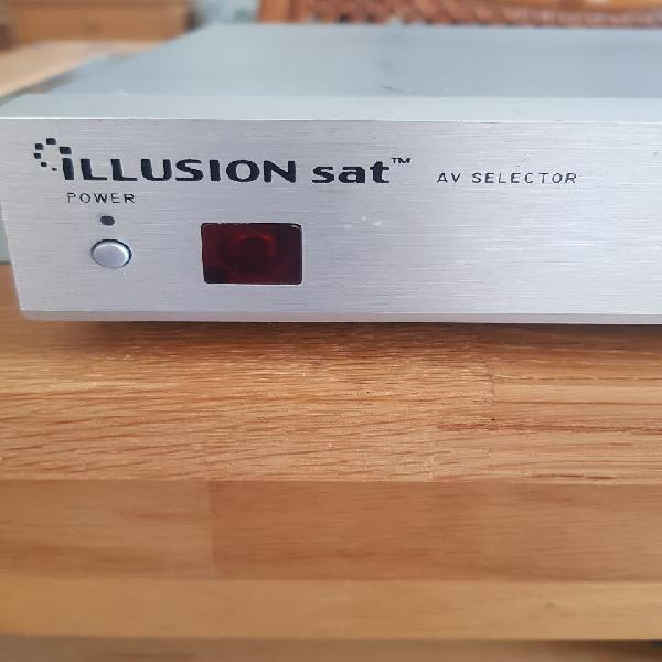 Selector av múltiple, scar, rca, fibra optica, s v