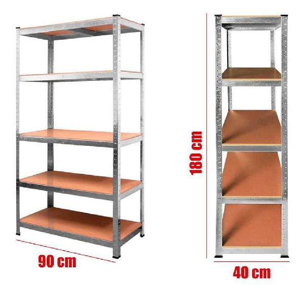 Set de 2 estanterias metalicas galvanizadas 875kg