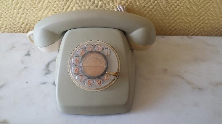 Teléfono heraldo gris