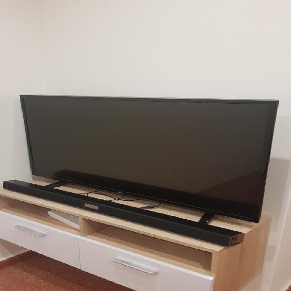 """Tv lg 43"""" 4k smart tv y barra de sonido samsung"""