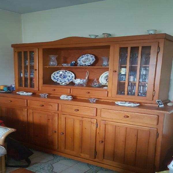 Mueble salon madera de pino maciza