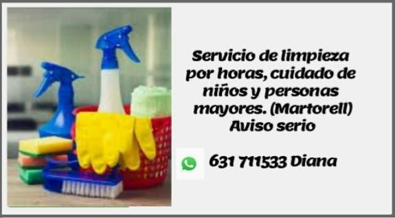 Servicio de limpieza y/cuidado de personas mayores