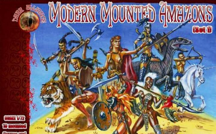 72026 dark alliance 1/72 modern mounted amazons set 1