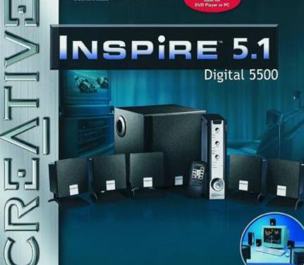 Altavoces creative inspire 5.1 digital 5500