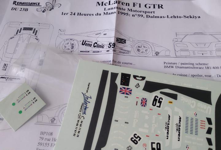Calca] mclaren f1 gtr #59 dalmas / letho / sekiya winner