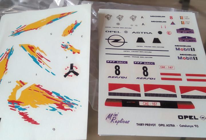 Calca] opel astra gsi 16v #8 b. thiry rally catalunya 1993