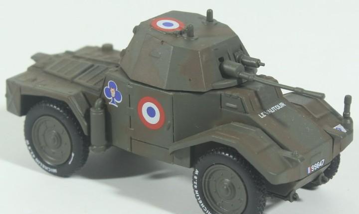 Maqueta vehículo panhard 178, montado y pintado, 1/72,