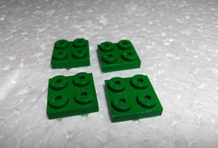 Verde placa 2x2 - tente (4 unidades)