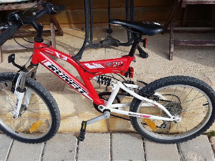 Bicicleta infantil suspensión doble mtb