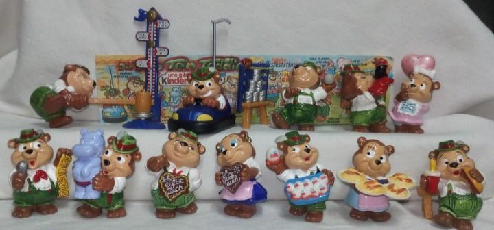 Coleccion completa figuras huevos kinder sorpresa osos