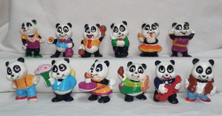 Coleccion completa figuras huevos kinder sorpresa panda