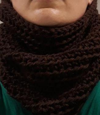 Cuellos a crochet hechos a mano