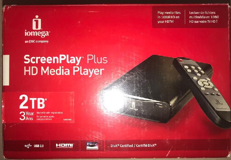 Disco duro multimedia iomega screenplay plus 2tb