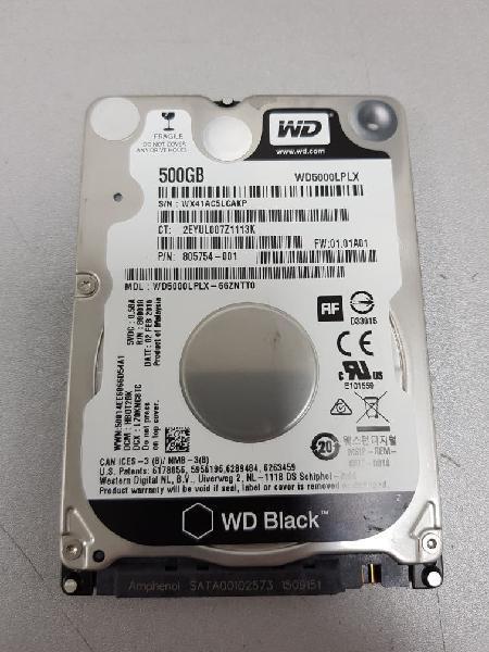 Disco duro wd 500gb sin uso