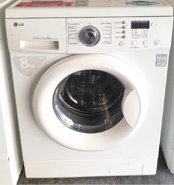 Envio 24 abril. lavadora lg 8kg a+. garantia.