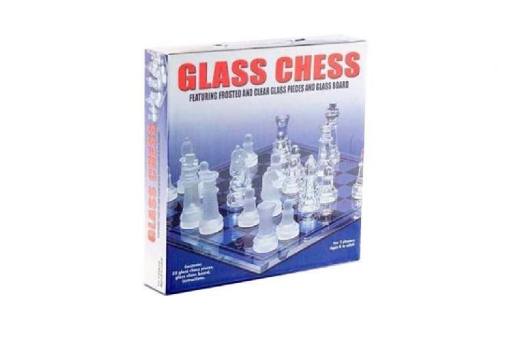 Glass chess ajedrez,sin uso,en su caja