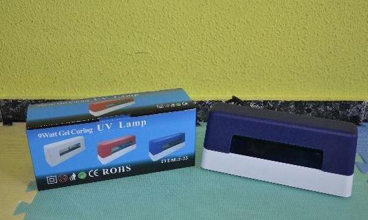 Lámpara uv 9w secadora uñas gel (a estrenar)