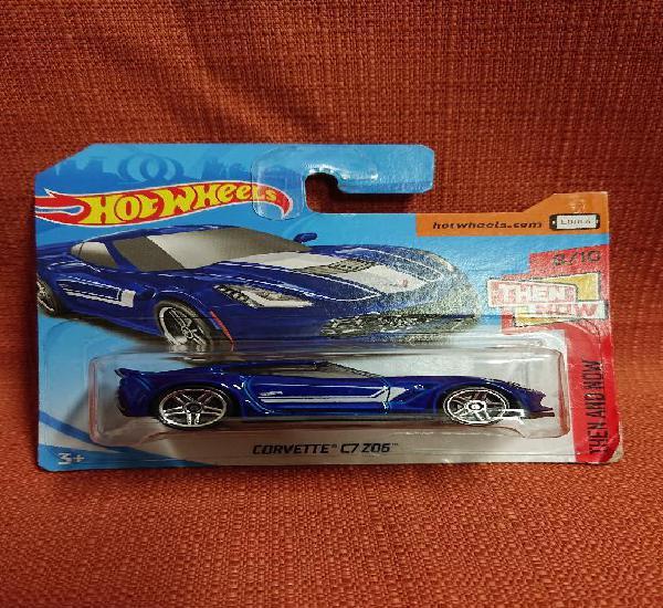 Mattel hot wheels nuevo en blister escala 1:64 corvette c7