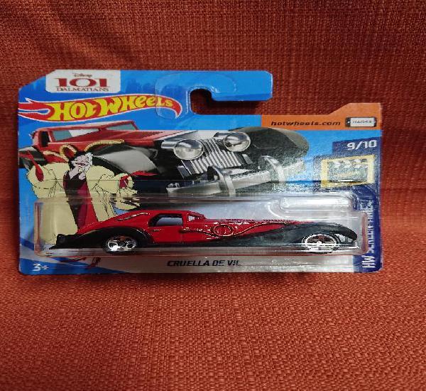Mattel hot wheels nuevo en blister escala 1:64 cruella de