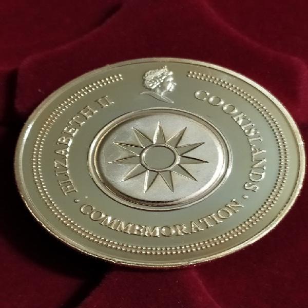 Moneda medalla islas cook benedicto xvi