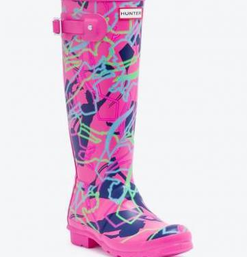 Nuevas botas de agua hunter fucsia