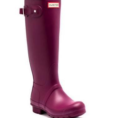Nuevas botas de agua hunter violeta
