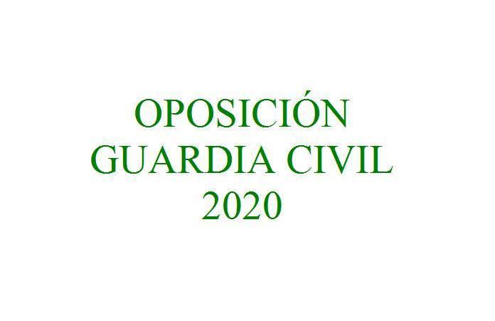 Oposición guardia civil 2020