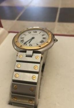 Reloj cartier santos ronde nº serie 8191