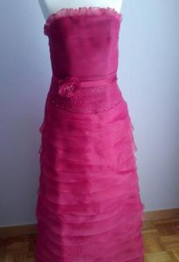 Vestido fiesta rosa clará