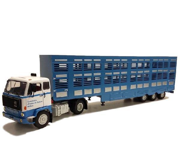 Volvo f89 transporte ganado camion trailer 1:43 ixo altaya