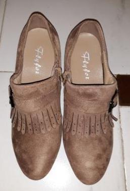 Zapatos piel de ante marrón