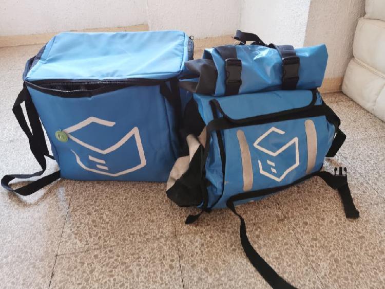 Bolsa y mochila isotermica para repartidor
