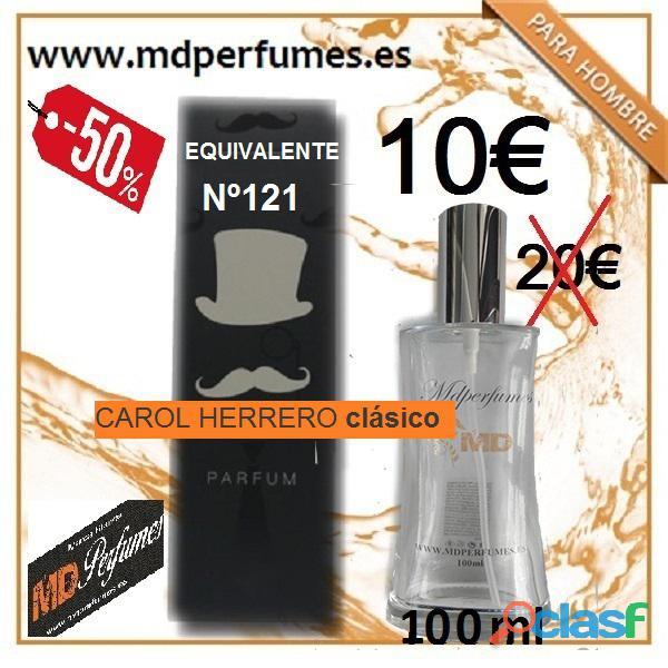 Perfume hombre equivalente n121 carol herrero clásico alta gama 10€ 100ml