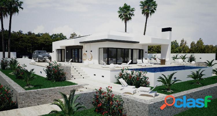 Proyecto- hermosa villa de estilo moderno con vistas al mar