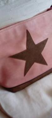 Bolso rosa diseño estrella