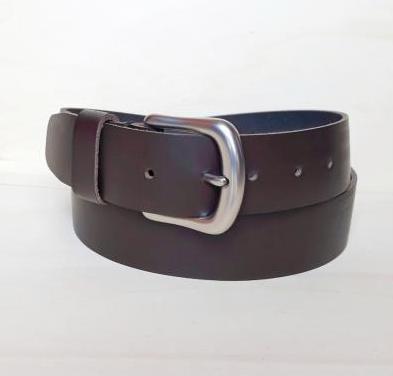 Cinturon de hombre cuero marrón oscuro