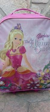 Maleta trolley barbie para niña