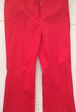Pantalón algodón rojo chica.