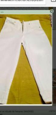 Pantalón blanco borsache. talla. 38