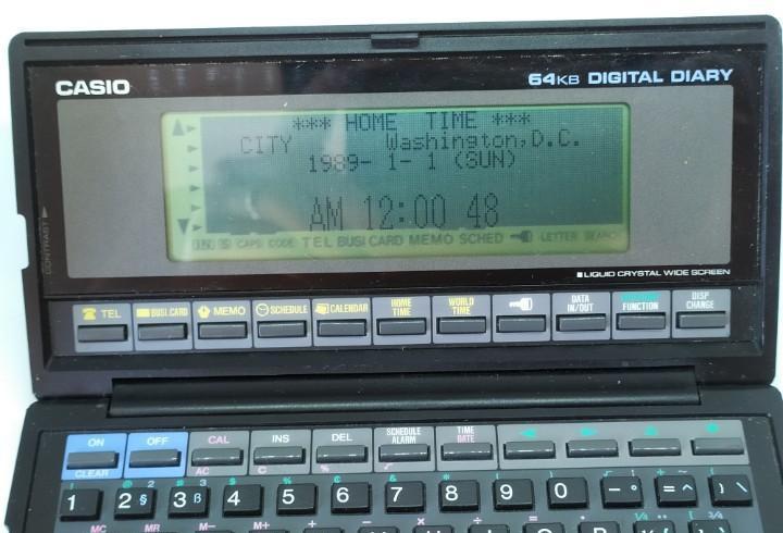Agenda calculadora 64kb - casio boss sf-8000 - sf8000 japan