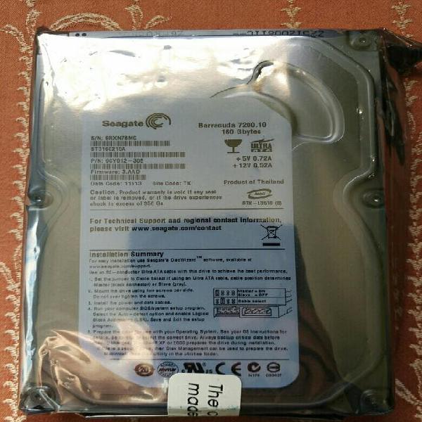 Disco duro ide seagate 160gb (nuevo - sin usar)