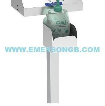 Distribuidor de gel desinfectante y guantes
