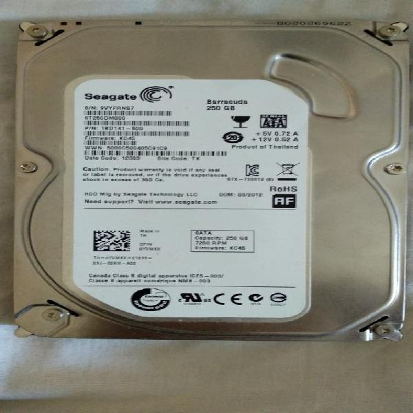 "Disco duro 3,5"" 250gb seagate"