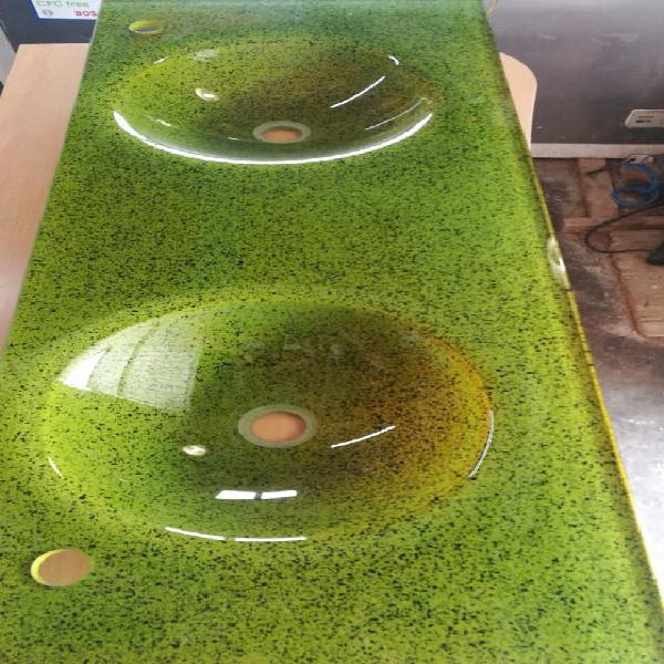 Encimera de cristal de dos picas nueva